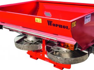 Rozsiewacz sadowniczy dwutarczowy marki WOPROL